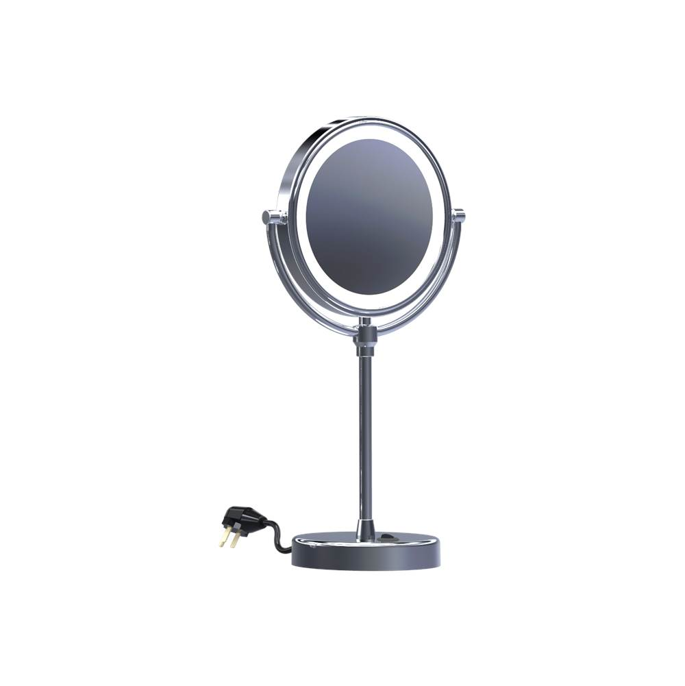Baci Remcraft   EH140 BRONZE   Baci Basic Round Table Mirror   Reversible    LED