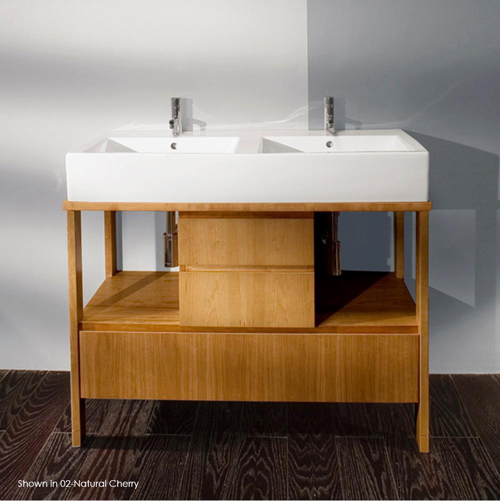 Small 2 Sink Vanity 47 Inch Modern Double Sink Bathroom Vanity in
